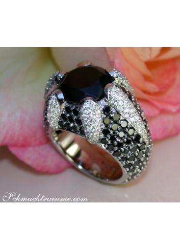 Opulenter Onyx Ring mit schwarzen & weißen Diamanten
