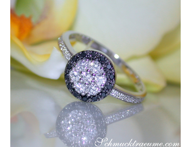 Timelessly Elegant Black Diamond Ring
