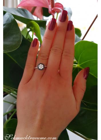 Timelessly Elegant Black Diamond Ring