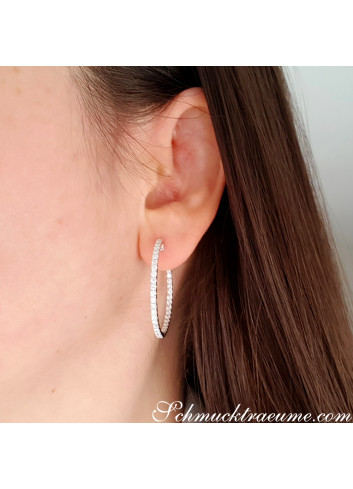 Amazing Diamond Hoop Earrings (Ø 33 mm)