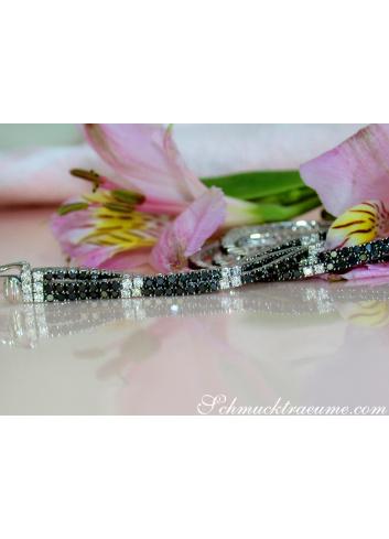 Tennis Armband mit schwarzen Diamanten
