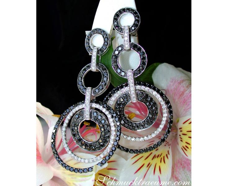Ohrringe mit schwarzen Diamanten