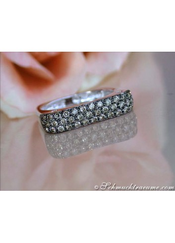Edgy Brown Diamond Ring