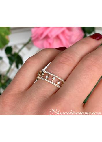 Enchanting Diamond Eternity Ring in Yellow gold 14k