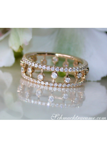 Diamanten Memory Ring in Gelbgold 585