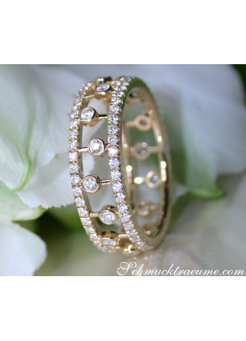 Diamanten Memory Ring in Gelbgold 585
