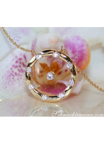 "Enchanting ""Floating"" Diamond Necklace with Sapphire Glass"