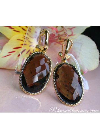 Impressive Smoky Quartz Earrings