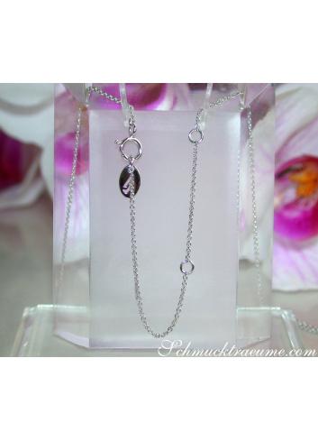 Traumhafte Brillanten Halskette mit Saphirglas