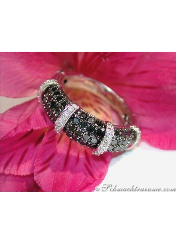 Timeless Black & White Diamond Ring