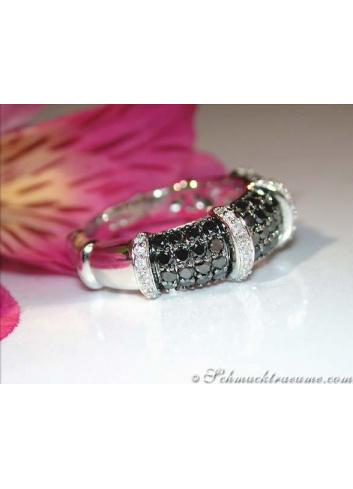 Timeless Black & White Diamond Ring