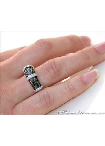 Brillanten & schwarze Diamanten Ring