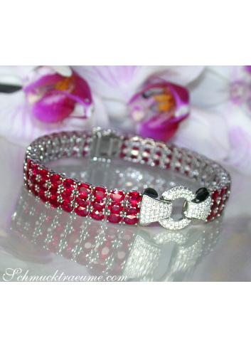 Einzigartiges Rubin Armband mit Brillanten