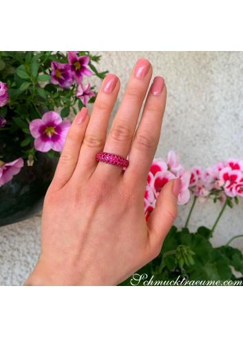 Precious Ruby Pave Ring