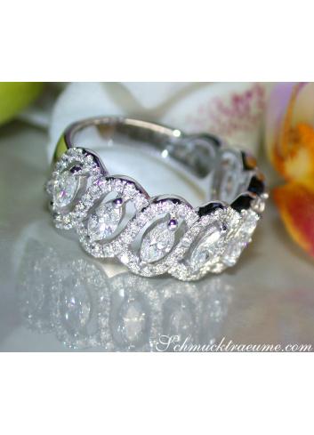 Marquise Diamanten Ring mit Brillanten