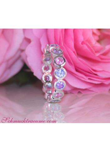 Gorgeous Pastel Sapphire Eternity Ring