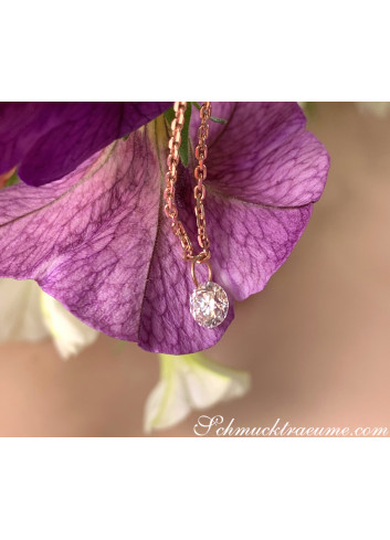 """Delicate Solitaire Necklace """"Floating Diamond"""""""