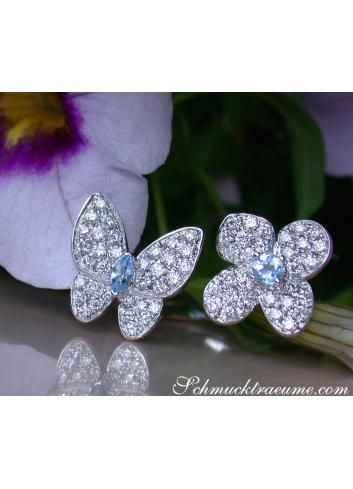 Brillanten Ring Schmetterling Blüte
