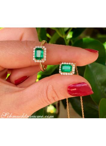 Smaragd Ring und Halskette