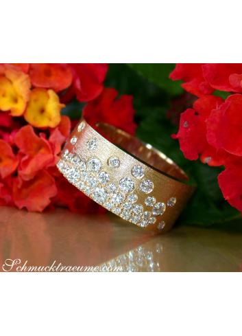 Brillanten Sternenhimmel Ring Gelbgold 585