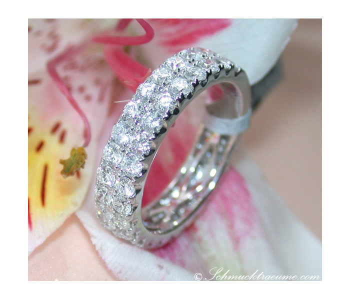 Two Row Diamond Eternity Ring