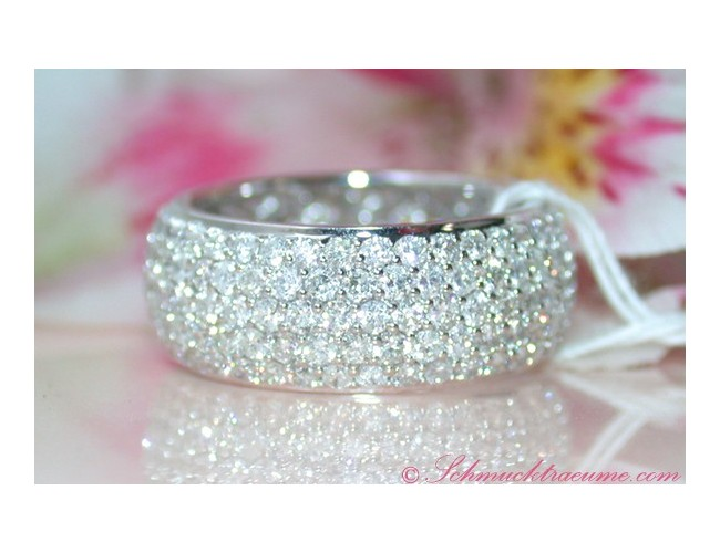 Five Row Diamond Eternity Ring
