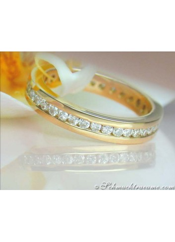 Attractive Diamond Eternity Ring in Yellow gold 18k