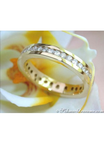 Brillanten Memoire Ring / Brillanten Memory Ring Gelbgold 750