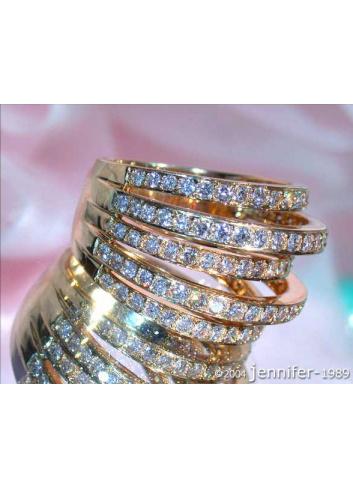 Five Row Diamond Ring