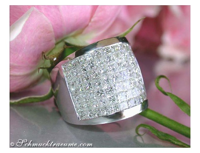 Luxus Princess Diamanten Ring