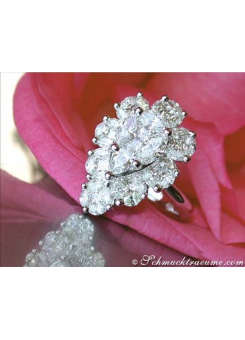 "High-end Diamond ""Illusion Design"" Ring"