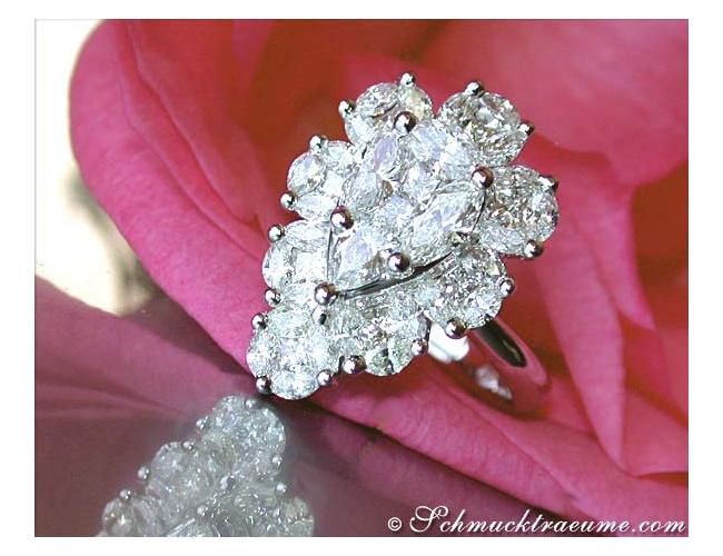 Diamanten Tropfen Ring