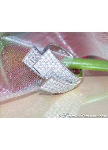 Exklusiver Brillanten Ring in Weißgold 750