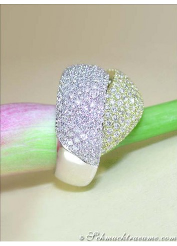 Top-class Diamond Ring in White & Yellow Gold