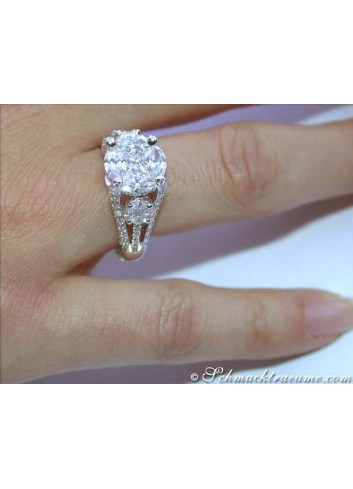 "High-end ""Illusion Design"" Diamond Ring"