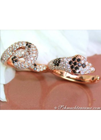 Splendid Diamond Double Snake Ring