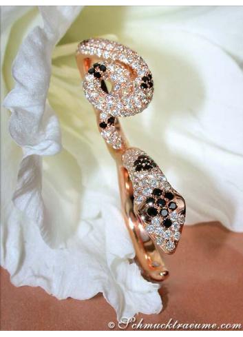 Diamond Double Snake Ring