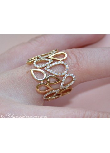 Diamant Ring in Gelbgold