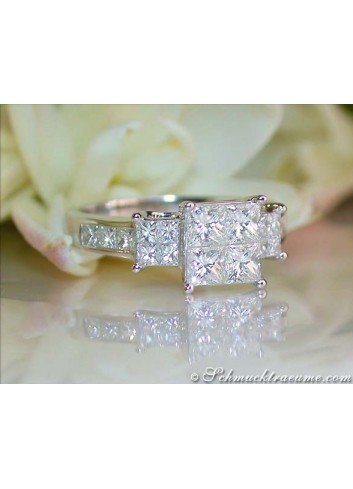 Exquisite Princess Diamond Ring
