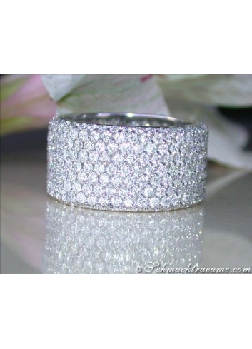 Extra Wide Diamond Eternity Ring (4,49 ct.)