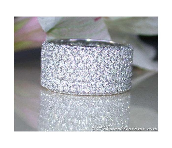 Extra Wide Diamond Eternity Ring