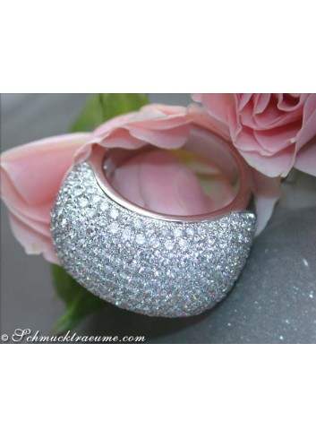 Stately Diamond Dome Ring