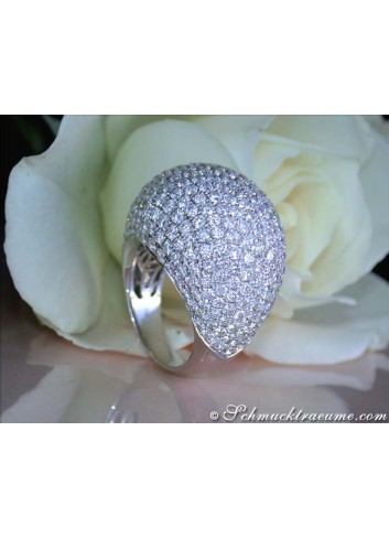 High-end Diamond Dome Ring