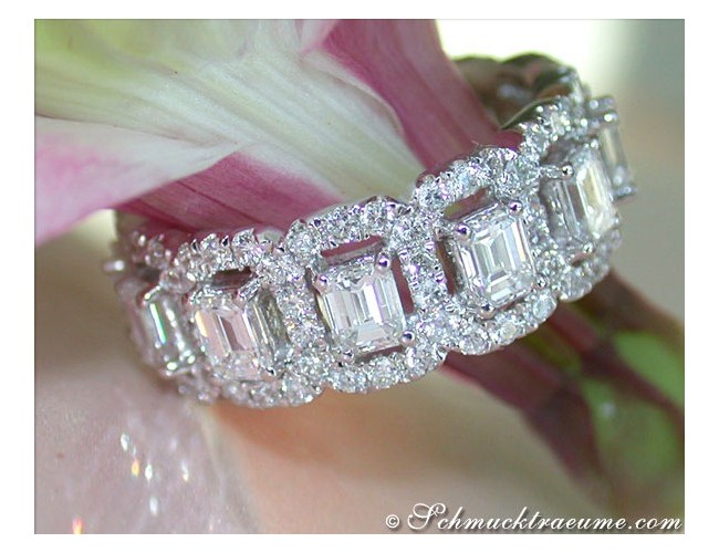 Diamanten Brillanten Memory Ring / Memoire Ring