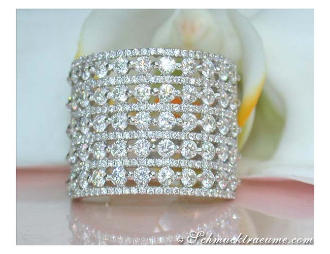 Extra Wide Diamond Ring of Finest Craftsmanship
