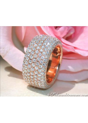 Brillanten Memory Ring / Brillanten Memoire Ring in Roségold