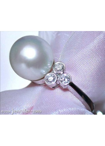 Timeless Southsea Pearl Diamond Ring