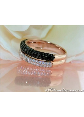 Understated Black & White Diamond Ring