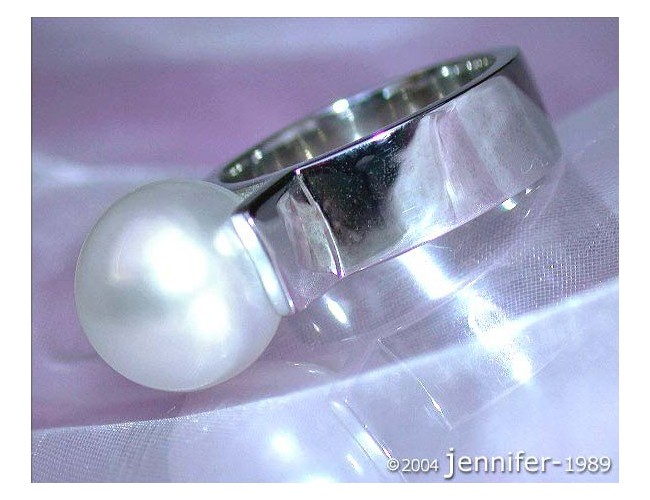 Heavy Southsea Pearl Ring