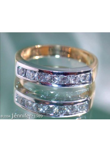 Timeless Diamond Band (Two Tone Finish)